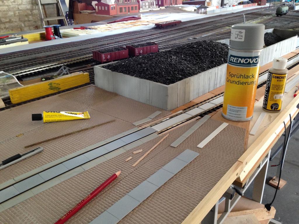 Betonplatten Gleis